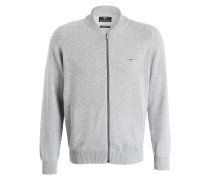 Strickjacke COLLEGE - grau meliert