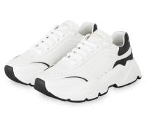 Plateau-Sneaker DAYMASTER - WEISS/ SCHWARZ