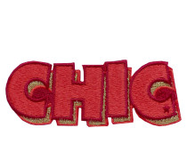Patch CHIC - rot/ gold