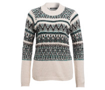Pullover - grün/ creme