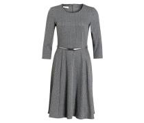 Nadelstreifen-Jerseykleid - grau meliert