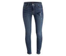 Skinny-Jeans JUNE - blue denim stretch