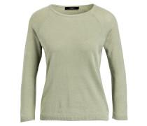 Pullover mit Seidenanteil - oliv