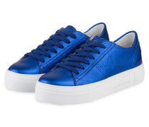 Plateau-Sneaker BIG - blau metallic