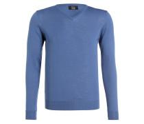 Feinstrickpullover - blau