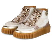 Hightop-Sneaker EVA mit Kunstpelzbesatz