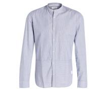 Hemd Regular-Fit mit Stehkragen - blau