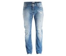 Destroyed-Jeans Slim-Fit - vintage blue