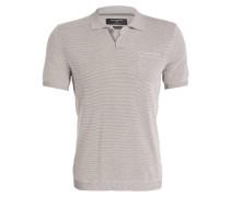 Strick-Poloshirt - grau