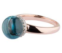 Ring PREZIOSA - roségold/ aquamarin