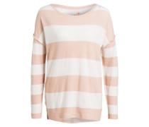 Sweatshirt - weiss/ rosa gestreift