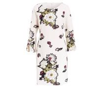 Kleid mit 3/4-Arm - creme