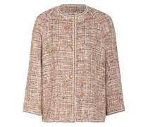 Tweed-Jacke mit Glitzergarn