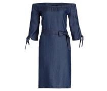 Off-Shoulder-Kleid - blau