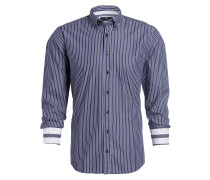 Hemd Modern-Fit - blau/ weiss gestreift