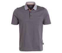 Jersey-Poloshirt Regular-Fit - grau
