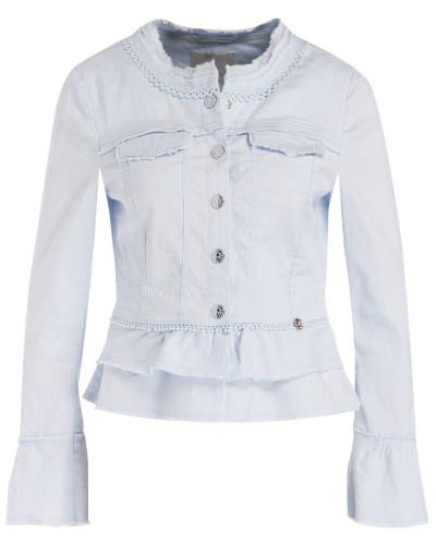 Jeansjacke mit Leinenanteil