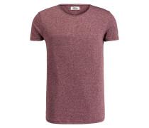 T-Shirt - bordeaux/ weiss meliert
