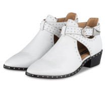 Cut-Out-Stiefeletten - weiss