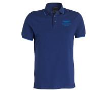 Piqué-Poloshirt Slim-Fit - navy