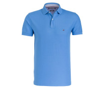 Piqué-Poloshirt Regular-Fit - blau