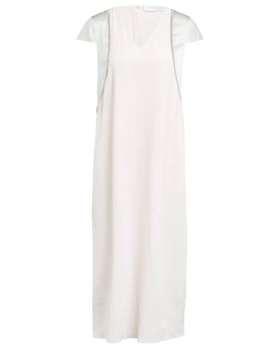 Kleid mit Seide und Schmucksteinbesatz