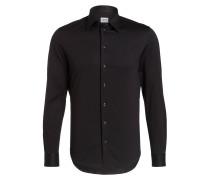 Jersey-Hemd Slim-Fit - schwarz