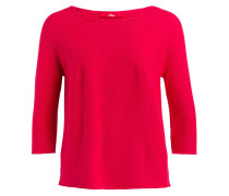Pullover mit 3/4-Arm - rot