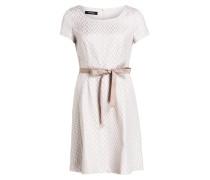 Jacquard-Kleid - offwhite/ beige