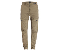 Cuffed-Cargohose NERO.L Slim-Fit - grün
