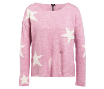 Pullover TREND - rosa/ weiss