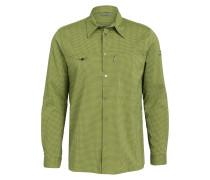 Outdoor-Hemd TAPIO - grün/ grau kariert