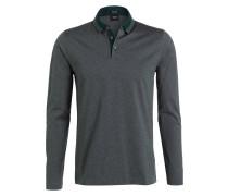 Poloshirt PADO Regular-Fit - grün meliert