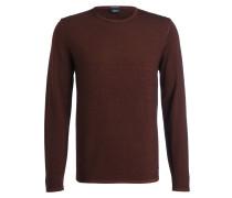 Schurwoll-Pullover STUART - braun