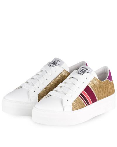 Sneaker - WEISS/ GOLD/ PINK