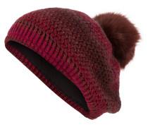Mütze - rot/ violet/ braun