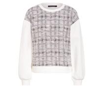 Bouclé-Sweatshirt mit Glitzergarn