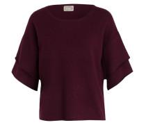 Cashmere-Pullover - burgunder