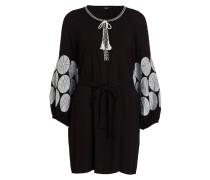 Tunika-Kleid - schwarz/ weiss