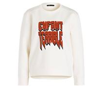Sweatshirt TYPHON - ecru/ ziegelrot