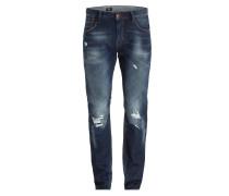 Destroyed-Jeans BLEECKER Slim-Fit - indigo