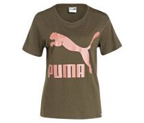 T-Shirt ARCHIVE - oliv/ rosa