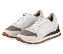 Plateau-Sneaker - CREME/ SILBER
