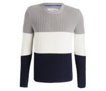 Pullover - grau/ creme/ navy