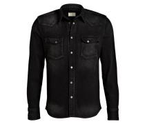 Denim Overshirt - schwarz