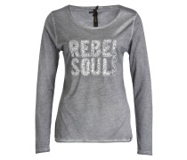 Longsleeve REBEL SOULS - anthrazit
