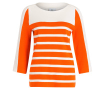 Pullover JANIKA - orange/ ecru gestreift