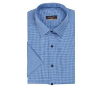 Halbarm-Hemd Slim-Fit - blau
