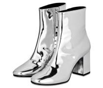 Stiefeletten - silber metallic
