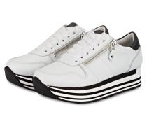 Plateau-Sneaker NOVA - weiss/ schwarz